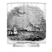 Gibraltar, 1843 Shower Curtain