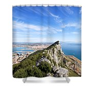 Gibraltar Rock Bay And Town Shower Curtain