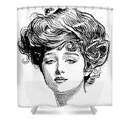 Gibson Girl, 1900 Shower Curtain