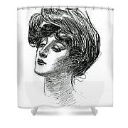 Gibson Girl 1902 Shower Curtain