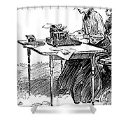 Gibson: Typing Shower Curtain