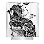 Gibson: Woman Reading Shower Curtain