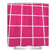 Griddy In Pink Shower Curtain