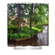 Giethoorn Greenery And Bridges. Venice Of The North Shower Curtain