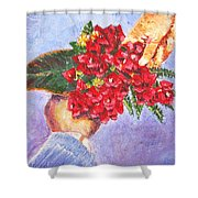 Gift A Bouquet - Bougenvillea Shower Curtain