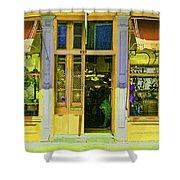 Gift Shop Windows Shower Curtain