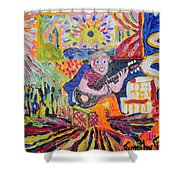 Gifted Guitar Man Shower Curtain