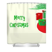 Gifts Under The Tree Shower Curtain