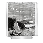Gig Harbor Sailing School Shower Curtain