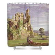 Gight Castle, 1851 Shower Curtain