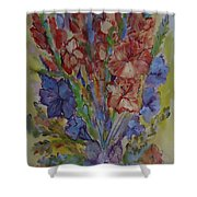 Gilded Flowers Shower Curtain