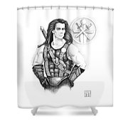 Giles Dancer Shower Curtain