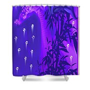 Gilly The Giraffe-by Sherri Of Palm Springs Shower Curtain