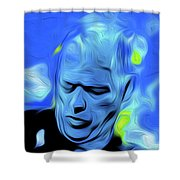 Gilmour Blue Nixo Shower Curtain