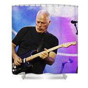 Gilmour Maroon Nixo Shower Curtain