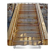 Gilpin County Museum Stairs Shower Curtain