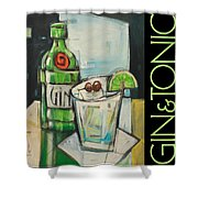 Gin And Tonic Poster Shower Curtain