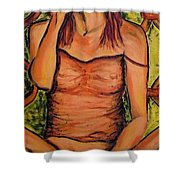 Gina The Smoking Woman Shower Curtain