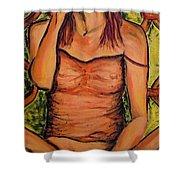 Gina The Smoking Woman Shower Curtain