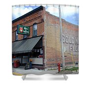 Gina's Pies Are Square Shower Curtain by Mark Czerniec