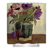 Ginger Pot With Anemones, George Hendrik Breitner, Ca. 1900 - Ca. 1923 Shower Curtain