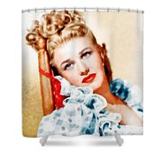 Ginger Rogers By John Springfield Shower Curtain