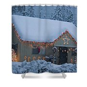 Gingerbread House In Snow Shower Curtain