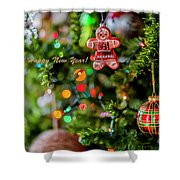 Gingerbread Man With Happy New Year 4350 Shower Curtain