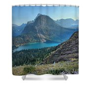 Ginnell Glacier Lake Shower Curtain