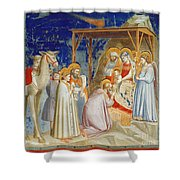 Giotto: Adoration Shower Curtain by Granger
