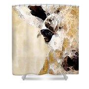 Giraffe Art - Side View Shower Curtain