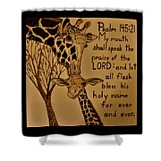 Giraffe Bible Verse Shower Curtain