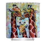 Giraffe Family Shower Curtain