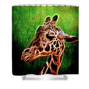 Giraffe Fractal Shower Curtain