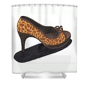 Giraffe Heels Shower Curtain