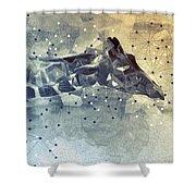 Giraffe Poly Shower Curtain