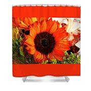 Girasol Naranja Shower Curtain