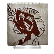 Girl - Tile Shower Curtain