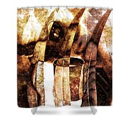 Woman In Fall Shower Curtain