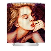 Girl And Dreams Shower Curtain