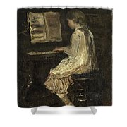 Girl At The Piano Shower Curtain