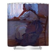 Girl At The Window 1885 Shower Curtain
