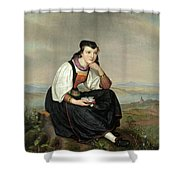 Girl From Hessen In Traditional Dress Shower Curtain