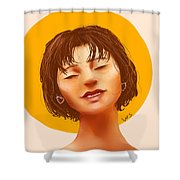 Girl From The Sun Shower Curtain