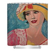Girl From The Twenties Shower Curtain