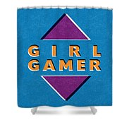 Girl Gamer Shower Curtain