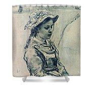 Girl Hell 1882 Ilya Repin Shower Curtain