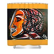 Girl In A Fast Car Shower Curtain