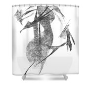 Girl, In Abstract Shower Curtain