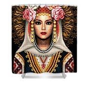 Girl In Bulgarian National Costume Shower Curtain